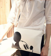 Women girl Mickey Handbag Shoulder Bag Purse Tote Messenger Hobo Bag White
