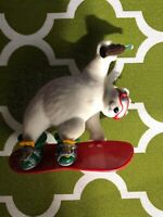 2001 COCA COLA COKE POLAR BEAR COOL SPORT SNOW BOARDER HALLMARK ORNAMENT NO BOX