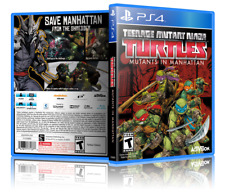Teenage Mutant Ninja Turtles: Mutants in Manhattan PS4 Cover and Case. NO GAME!