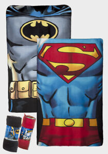 KIDS BATMAN / SUPERMAN FLEECE BLANKET 150 X 100CM OFFICIAL THROW KIDS FREE P+P
