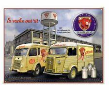 PLAQUE METAL 40x30cm UTILITAIRES DES ANNEES 60 RENAULT ESTAFETTE 800 ET 4L