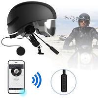 Helmet Motorcycle Headset Speakers Microphone Bluetooth Handsfree Call Control