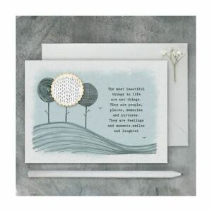 East of India Friendship Birthday Card - The most beautiful things..