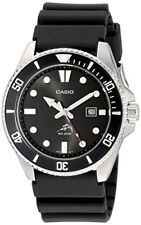 Casio Men's Watch Stainless Steel Case Quartz Duro Black Dial Diver Plastic Resi