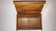 VINTAGE MID-CENTURY RARE KALMAR TEAK JEWELRY TRINKET BOX - UNIQUE STYLE - XLT!