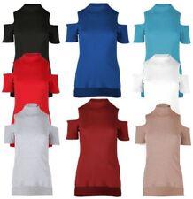 Cotton Short Sleeve Women's Cut Out