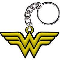 WONDER WOMAN LOGO - RUBBER KEYCHAIN - BRAND NEW - DC COMICS 0013