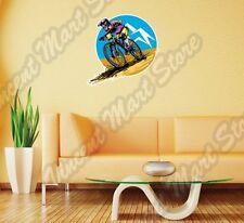 "Mountain Bike Trials BMX Outdoor Extreme Wall Sticker Room Interior Decor 22"""