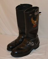 Vintage Harley Davidson Steel Toe Leather Engineer Motorcycle Riding Boots Sz 11