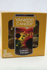 Yankee Candle of 12 Scented Tealights Tea Light- Sunset Fields