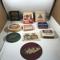 Large Lot of Restaurant Beer Drink Advertising Coasters