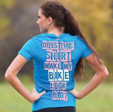 J&P Cycles® Does This Shirt Make My Bike Look Big? Blue T-Shirt Motorcycle XL O1