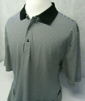 Jack Nicklaus Performance 18 Striped S/S Athletic Polo Golf Shirt Mens XXL