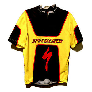 Specialized Mens Large Black Red Short Sleeve Cycling Bike Jersey