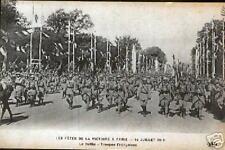 Troop French 1ª War M. Parade d la victoria Paris