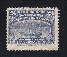 NEWFOUNDLAND STAMP  #71    —  24c SALMON FISHING - 1897 - UNUSED
