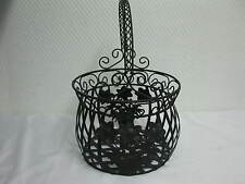 Korb Blumenkorb Dekokorb Metall   Pflanzgefäß Blumenkübel  25cm Obstkorb