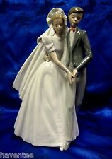 UNFORGETTABLE DANCE BRIDE GROOM FIRST DANCE FIGURINE NAO BY LLADRO  #1247