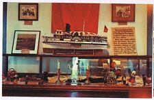 MODEL OF LONG ISLAND SOUND STEAMER SHIP RHODE ISLAND - POSTCARD # 49990