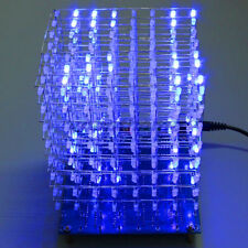 3D Squared 8x8x8 3mm LED DIY Cube Blue Light LED Kit Set Board with Cable OS843