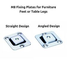 M8 Fixing Brackets Mounting Plates Level or Angle Designs for Feet Foot Legs