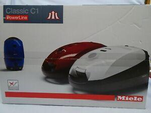 NIB Miele Classic C1 Turbo Team PowerLine Canister Vacuum Cleaner Mystique Blue