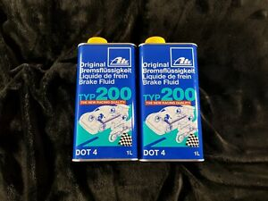 ATE Typ200 Performance Brake Fluid DOT4 2L 2 Litres Race Track Rally Super Blue