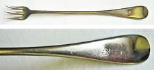 "WINDSOR 1919 Pattern ""B"" Monogram Silverplated Oyster Pickle Fork Royal Plate Co"