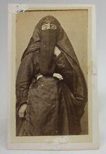 ANTIQUE 1870/80's PHOTO CDV Albumen CAIRO EGYPT/ ARAB WOMAN TRADITIONAL COSTUME