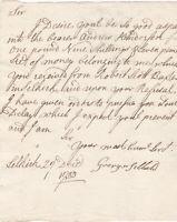 1753 Scottish Borders Document Selkirkshire Andrew Henderson From Robert Scott