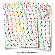 Pug dog gift wrap Birthday, Christmas any occasion wrapping paper 2 sheets, tags