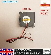 4020 DC 12V Silent Radial Turbo Blower Fan Cooling for 3D Printer Parts 2PIN UK