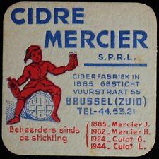 Sous-bock Cidre Mercier Brussel bierviltje bierdeckel coaster