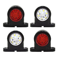 4 x 12V/24V Mini Rubber Stalk LED Side Marker Lights Red/White Truck Trailer A27