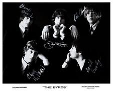 The Byrds - POSTER - Promo pic David Crosby Chris Hillman SIGNED AUTOGRAPHS