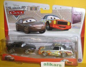 DARRELL CARTRIP + BOB CUTLASS Disney Pixar Cars Diecast Mattel original vehicles