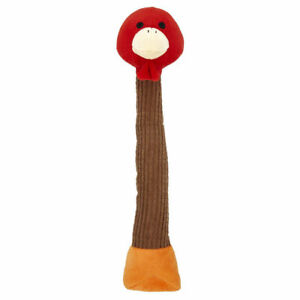 Dog Toy Xmas Christmas Tall Neck Turkey 39cm Long Plush Festive Squeaky