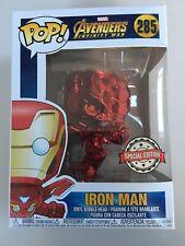 FUNKO POP Marvel Roja Cromo Iron Man Los Vengadores Edición Especial CABEZA DE POMPÓN