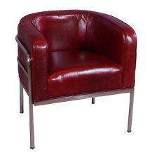 Vintage Leder Echtleder Sessel Ledersessel Chicago Echtledersessel Chromsessel