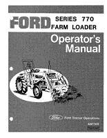 NEW HOLLAND Ford Se3427 770 Loader 1973 Prior OPERATORS MANUAL