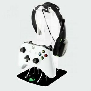 Xbox One Green Logo Design Controller and Headset Stand - Gaming Displays