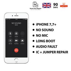 IPHONE 7/7+ AUDIO-SOUND IC REPAIR NO MIC SOUND DISEASE LONG BOOT AUDIO IC REPAIR