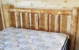 STANDARD LOG HEADBOARD Rustic- FREE SHIPPING! Log Headboard Cabin Decor!