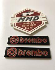 2 X Brembo Badge Decals Brembo Brakes Evolution STI GT-R Ford RS VW-R AMG Audi