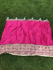 VINTAGE FRENCH COUNTRY VICTORIAN CHIC PINK SILK PATIO CUSTOM DRAPES CURTAINS