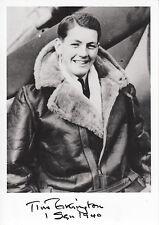 SPMF05 WWII BoB RAF Battle of Britain pilot TIM ELKINGTON hand signed photo