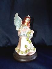 Thomas Pacconi Blown Glass Angel Figure Redhead Irish Shamrocks Clover Figurine