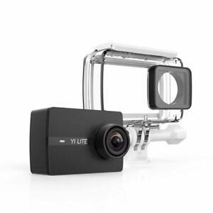 YI Lite Action Camera 4K 16MP Wifi Zubehörpaket Unterwassergehäuse App Display