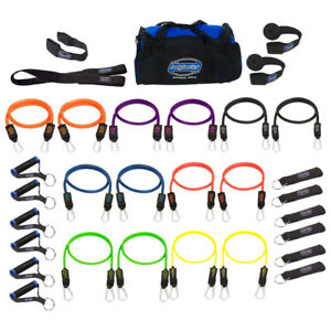 Bodylastics 31 Piece Exercise Equipment Set w/ Weight Resistance Bands & Anchors