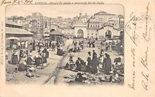 CPA PORTUGAL LISBOA PRACA DO PEIXE E MERCADO 24 DE JULHO (dos non divisé)